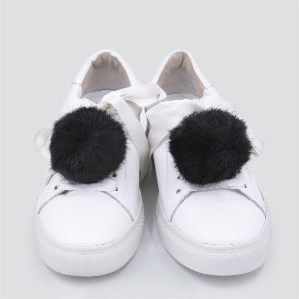 Sneaker Charm Set Fake Fur Black 1