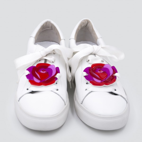 Sneaker Patch Set Red Roses 1