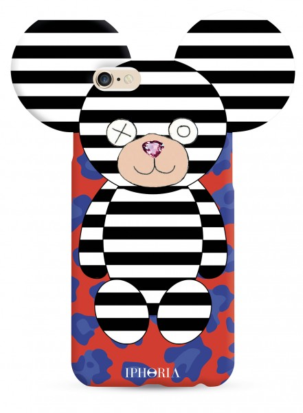 Teddy Black and White Stripes for iPhone 7/8 1