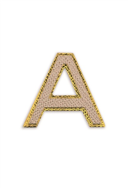 Ledersticker Letter A Rose Gold 1