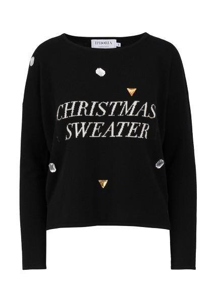 Cashmere Boxy Sweater - Black Christmas Sweater Size 2 1