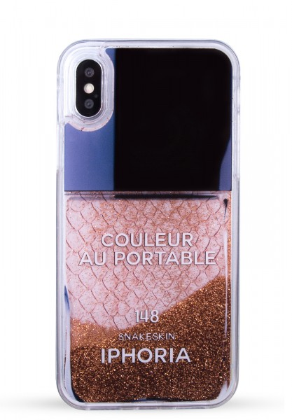 Liquid Case for Apple iPhone X/Xs - Rose Snake Classic Nail Polish 1