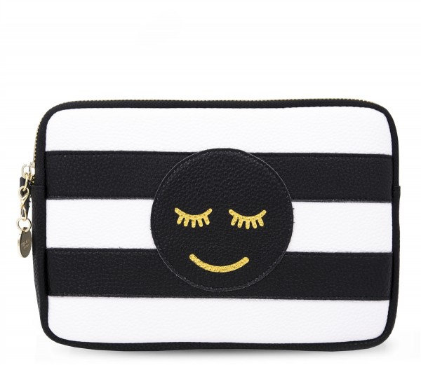 Power Purse incl. Powerbank (2600 mAh) - Smiley Black 1