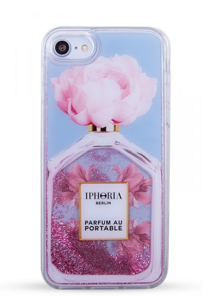 Liquid Case for Apple iPhone 7/8 - Perfume Oblique Flower Light Blue  1