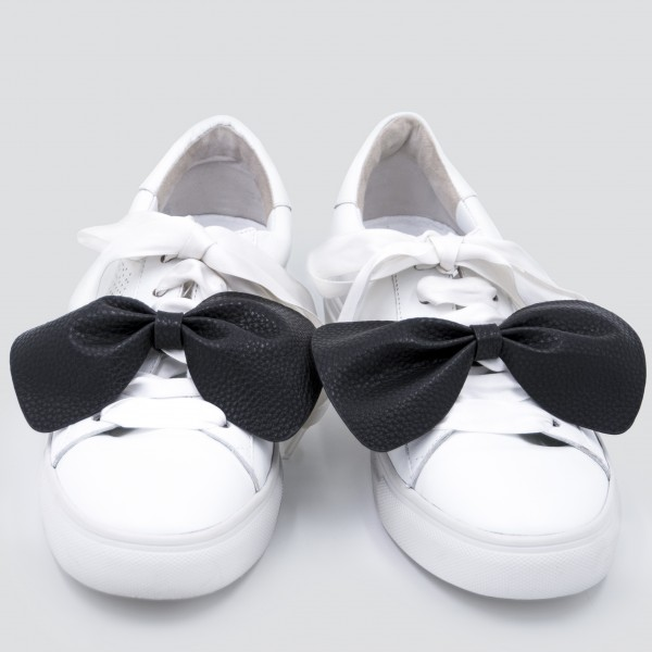 Sneaker Patch Set Black Bows 1