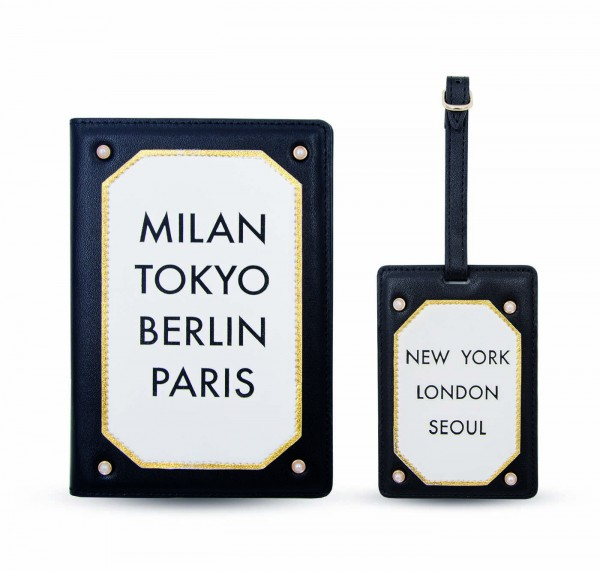 Travel Kit (Passport Holder - Luggage Tag) - Milan Berlin Tokyo 1