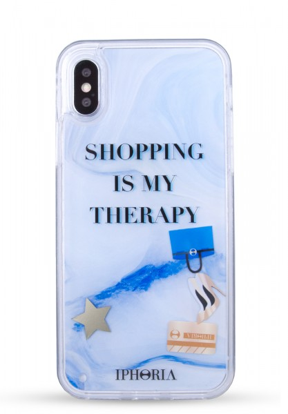 Liquid Case for Apple iPhone X/Xs - Shopping Is My Therapy 1