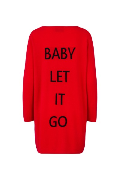 100% Cashmere Cardigan - Red Baby Let It Go - Size 2 1