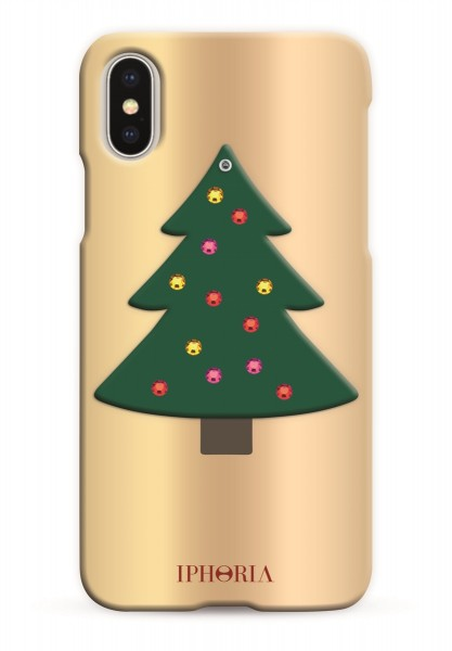 Case with Mirror for Apple iPhone X/XS - Christmas Tree 1