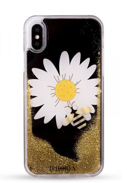 Liquid Case for Apple iPhone X/XS - Daisy Black 1