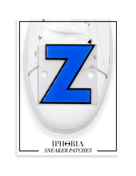 Acryl Sneaker Patches - Letter  Z  Light Blue 1