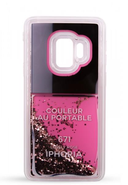 Liquid Case GALAXY S9 - Nailpolish Lovely Rose 1