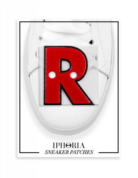 Acryl Sneaker Patches - Letter  R  Red 1
