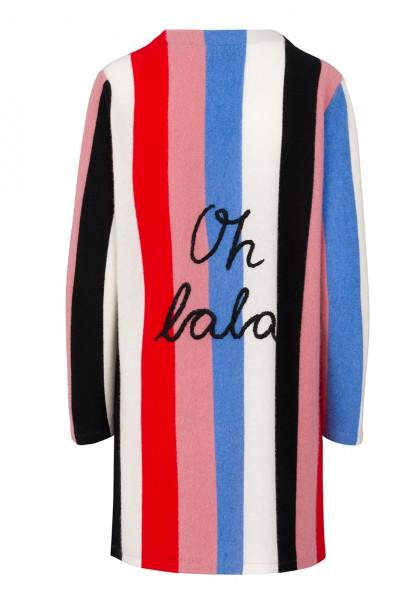 Cashmere Cardigan - Multicolor Blue Stripes oh lala - Size 2 1