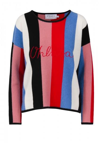 Cashmere Boxy Sweater - Stripes Multicolor Oh lala - Size 1 1