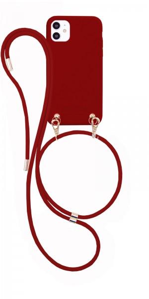 Artikelbild 1 des Artikels Necklace Case - Soft Touch simple Burgundy iPhone