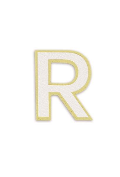 Ledersticker Letter R White 1