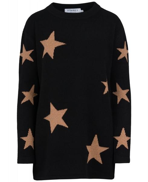 Cashmere Oversized Jumper Black Night. Größe 2 1