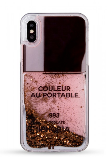 Liquid Case for Apple iPhone X/XS - Nailpolish Choco 1