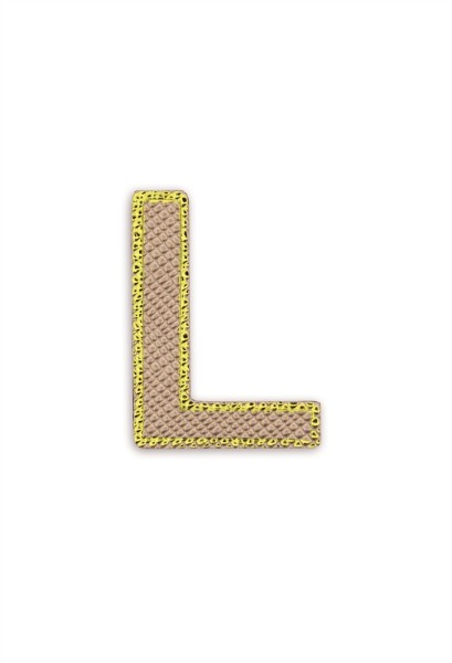 Ledersticker Letter L Rose Gold 1