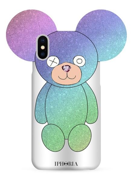 Case for Apple iPhone X - Teddy Multicolor Glitter 1