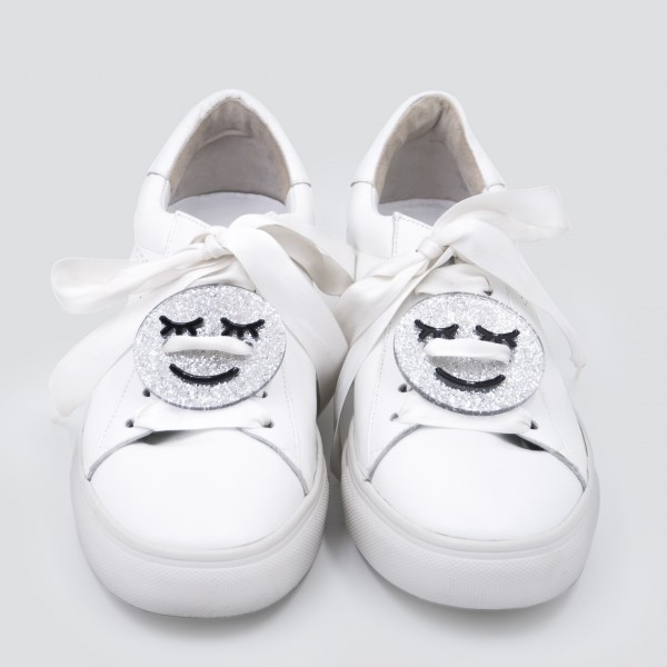 Sneaker Patch Set Silver Smileys 1