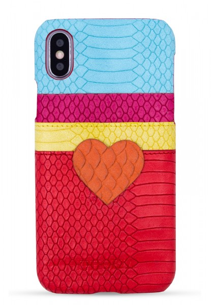 Slot Case for iPhone X/Xs - Red Heart For Lovers - Stay With Me 1