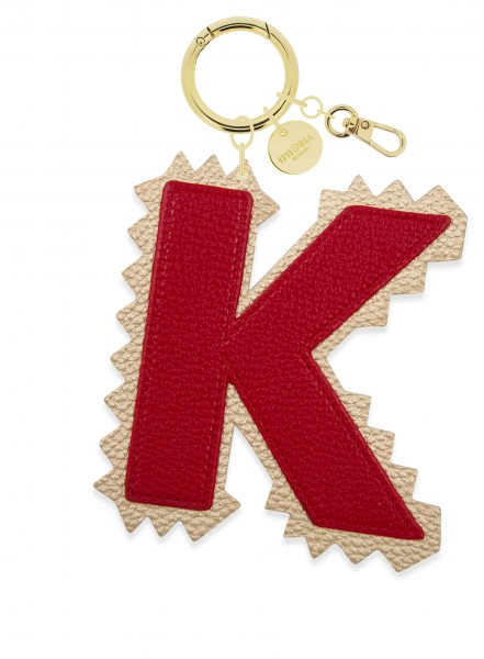 XL Bag Charm Red Letter K 1