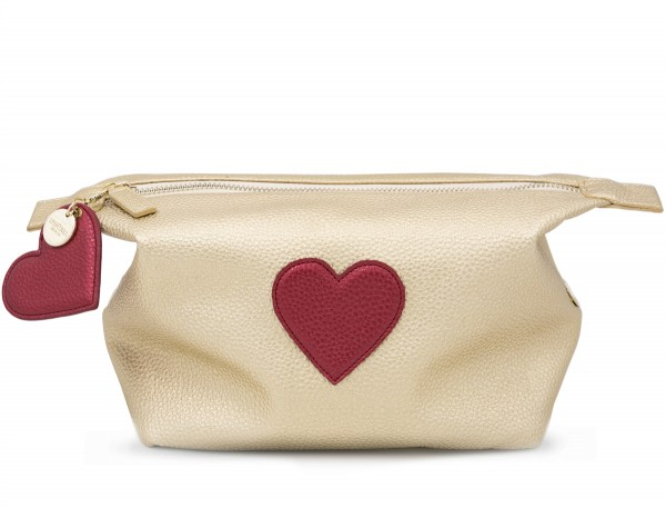 Washbag - Heart Gold 1
