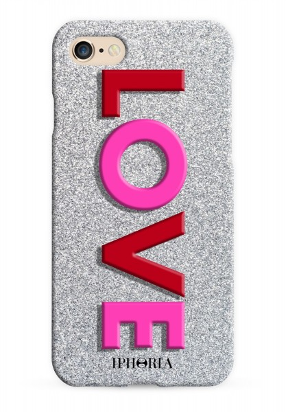3D Case for Apple iPhone 7/8 - Love Pink Red 1