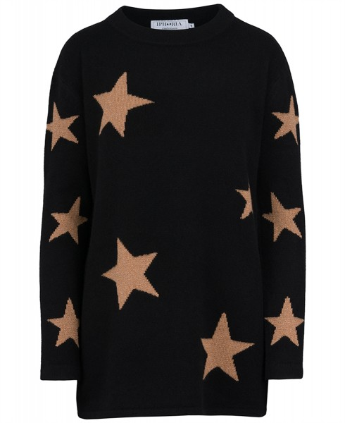 Cashmere Oversized Jumper Black Night. Größe 1 1