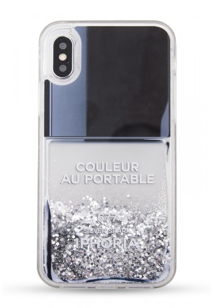 Liquid Case for Apple iPhone X - Nail Polish Grey 1