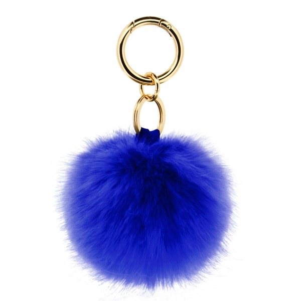 Fake Fur Keychain Blue  1