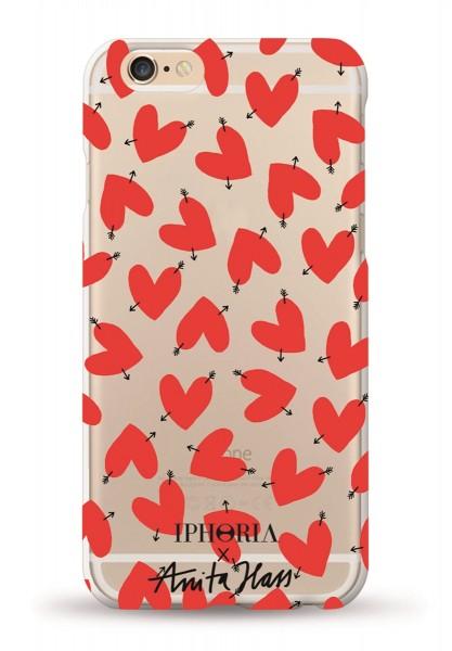 Iphoria X Anita Hass Hearts Transparent Case für Apple iPhone 7 Plus/ 8 Plus 1