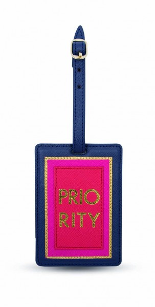 Luggage Tag - Priority  Blue 1