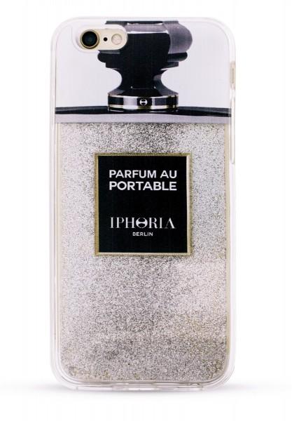 Liquid Case Parfum au Portable Silver Glitter für Apple iPhone 6/ 6S 1