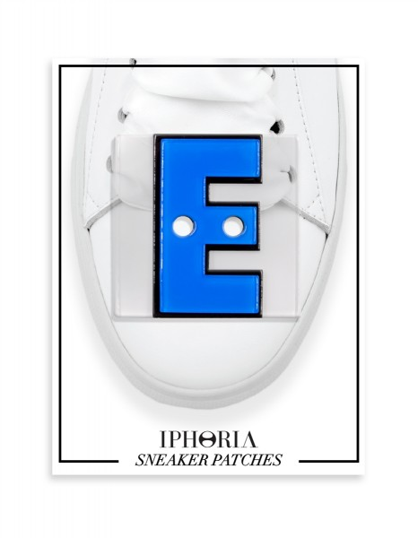 Acryl Sneaker Patches - Letter E Light Blue 1