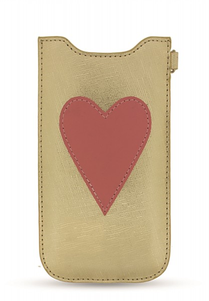 Pink Heart Patch Sleeve Gold für Apple iPhone 6/ 6S/ iPhone 7/ 8 1