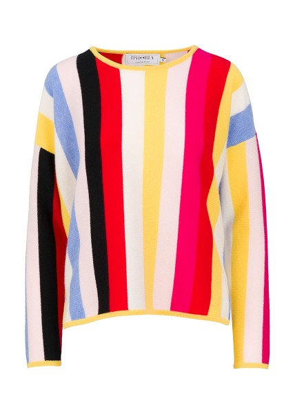 100% Cashmere Boxy Sweater - Multicolor Love - Size 2 1