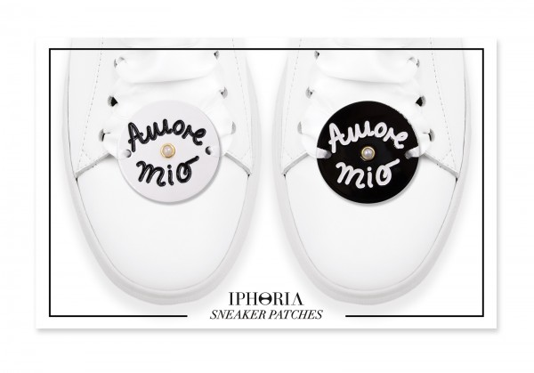 Acryl Sneaker Patches - Amore Mio Black White 1
