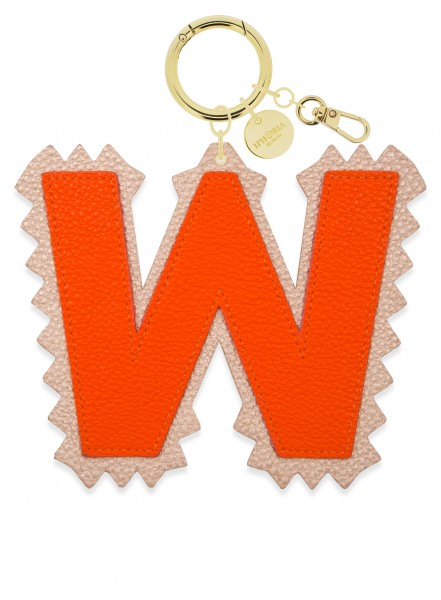 XL Bag Charm Orange Letter W 1