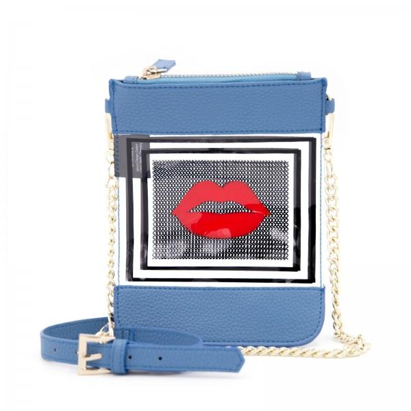 Micro Shoulder / Belt Bag Vertical - Transparent 1001 Nights Lips 1