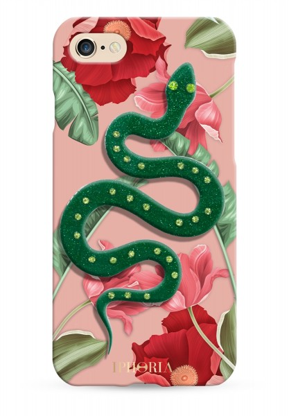 3D Case for Apple iPhone 7/8 - Nude Flowers Snake 1