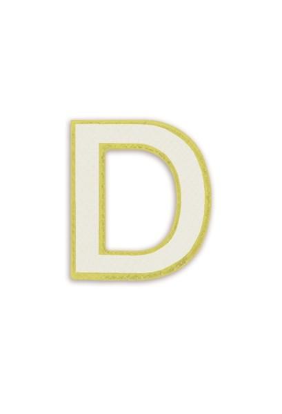 Ledersticker Letter D White 1