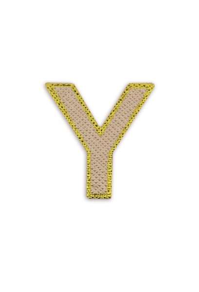 Ledersticker Letter Y Rose Gold 1
