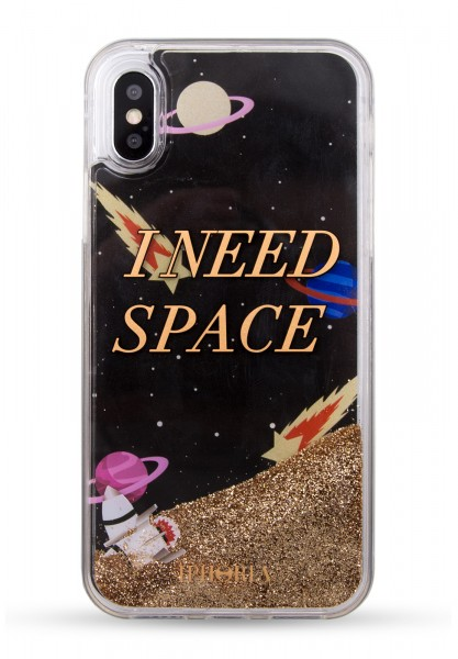 Liquid Case for Apple iPhone X/XS - Black NEED SPACE Galaxy 1