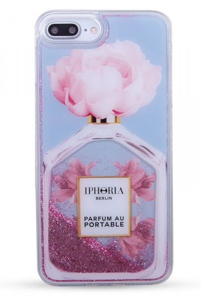 Liquid Case for Apple iPhone 7+/8+ - Perfume Oblique Flower Light Blue  1