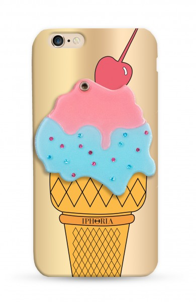 Mirror Case Golden Ice-Cream for iPhone 7/ 8 1