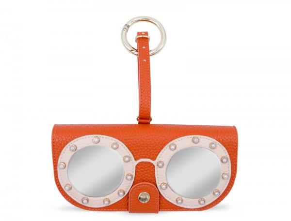 Glasses Case with Bag Holder - Orange with Glasses 1