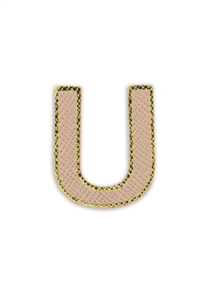 Ledersticker Letter U Rose Gold 1